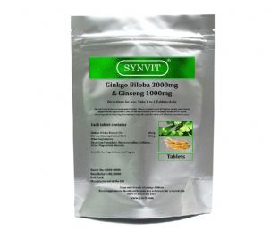 Ginkgo Biloba 3000mg & Korean Ginseng 1000mg SYNVIT®